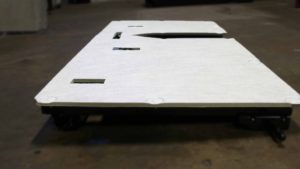 flat finish Stratas seatback panel