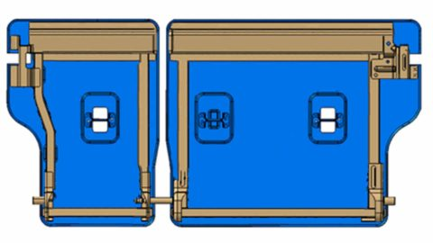 How Stratas seatback panel works